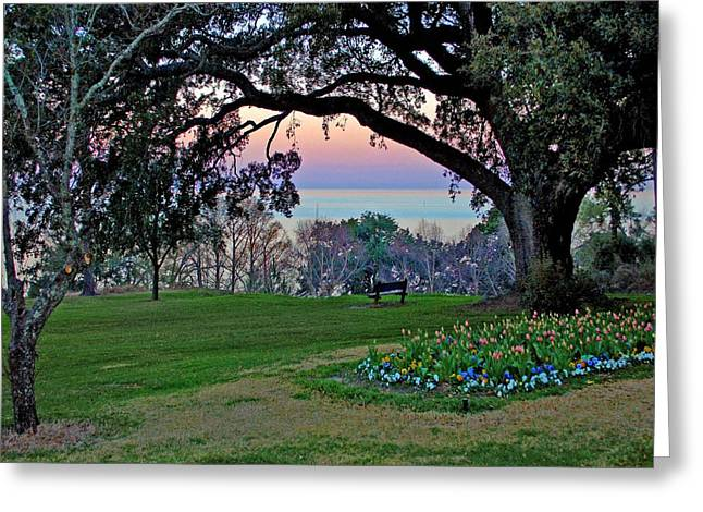 The Bay View Bench Greeting Card