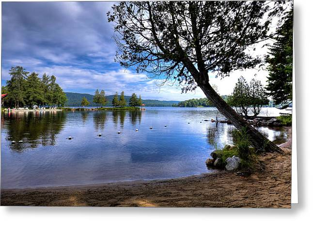 Greeting Card featuring the photograph The Beach At Covewood Lodge by David Patterson