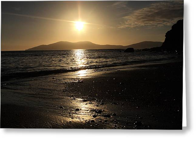 The Beach At Sunset On The Kerry Coast  Greeting Card