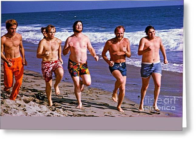The Beach Boys On Zuma Beach, 1967. Greeting Card by The Titanic Project