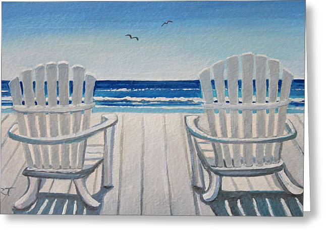 The Beach Chairs Greeting Card
