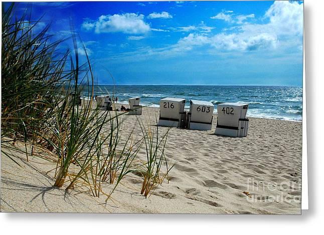 The Beach Greeting Card by Hannes Cmarits