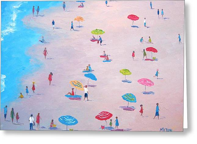 The Beach Greeting Card by Jan Matson