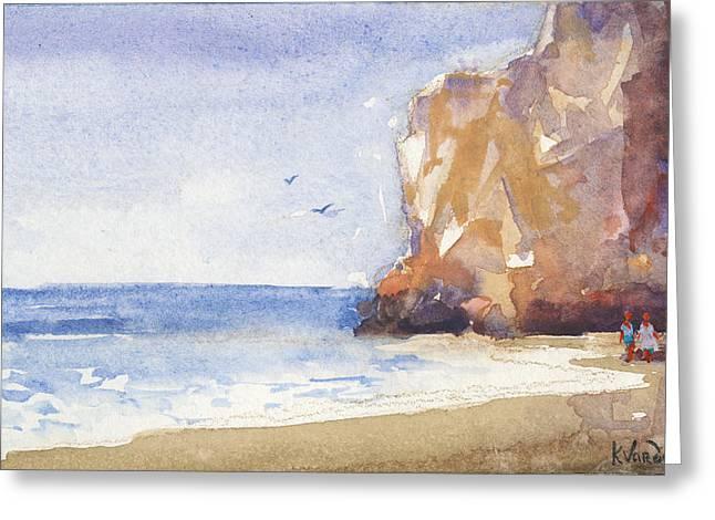 The Beach Greeting Card by Kristina Vardazaryan