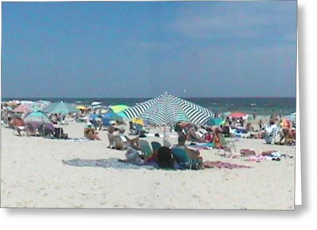 The Beach Merge Greeting Card by Daniel Henning