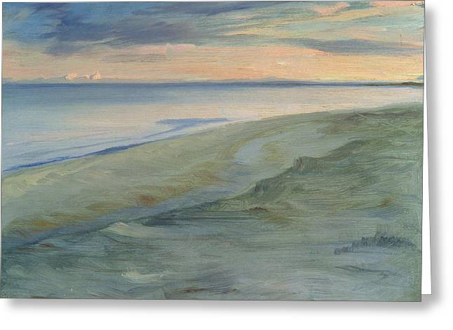 The Beach, Skagen Greeting Card