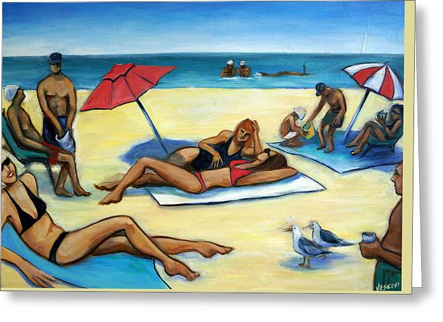 The Beach Greeting Card by Valerie Vescovi