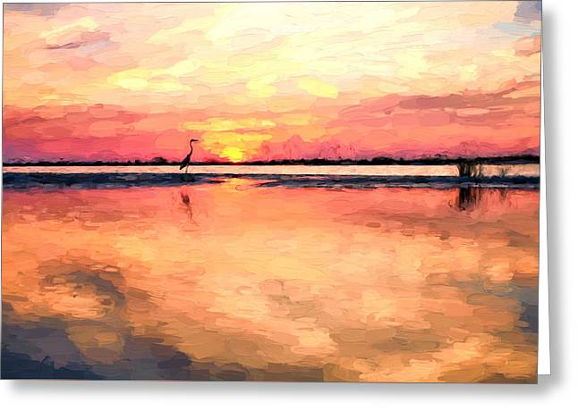 On The Beaches Of South Walton Greeting Card by JC Findley