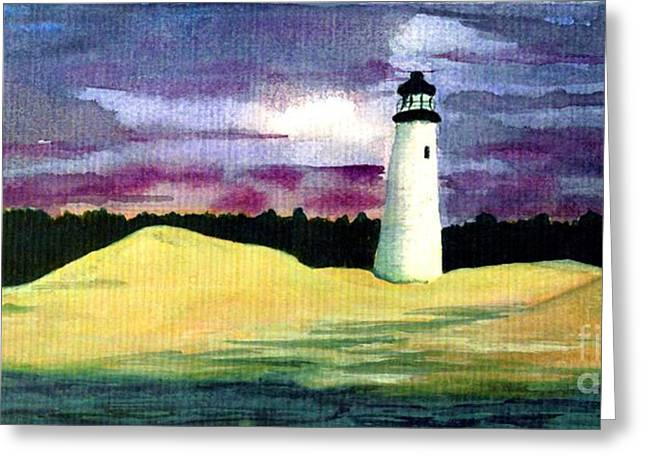 Greeting Card featuring the painting The Beacon by Patricia Griffin Brett
