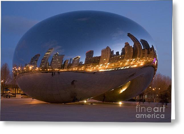 The Bean - Millenium Park - Chicago Greeting Card by Jim Wright