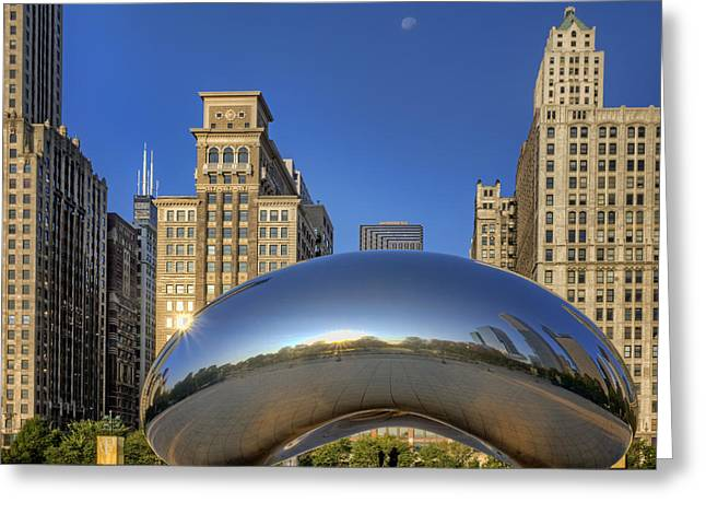 The Bean - Millennium Park - Chicago Greeting Card by Nikolyn McDonald