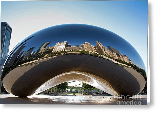 The Bean's Early Morning Reflections Greeting Card
