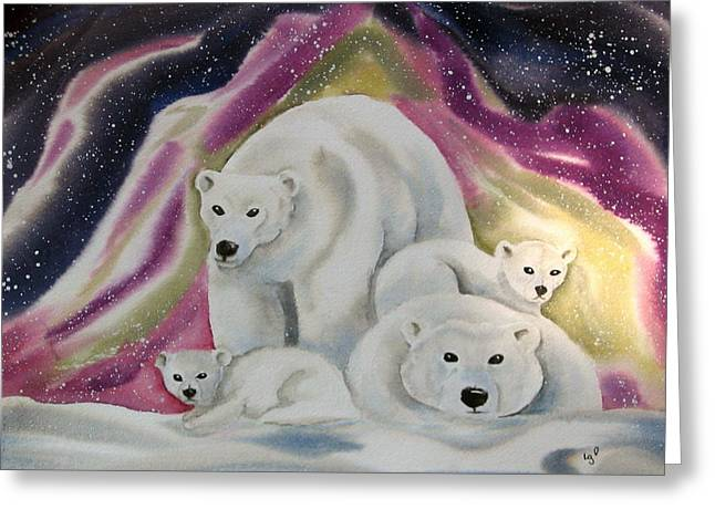 The Bear Family Greeting Card by Amelie Gates