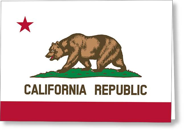 The Bear Flag - State Of California Greeting Card