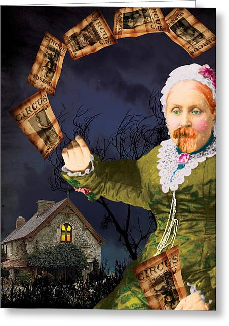 The Bearded Lady's Dream Greeting Card by Max Scratchmann