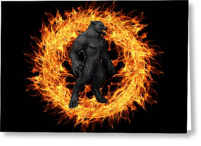 The Beast Emerges From The Ring Of Fire Greeting Card