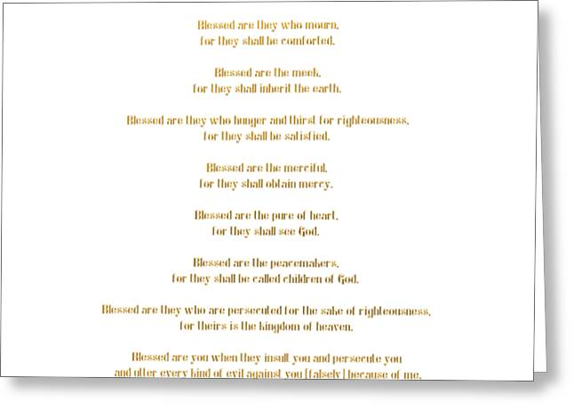 The Beatitudes Gospel Of Matthew Greeting Card