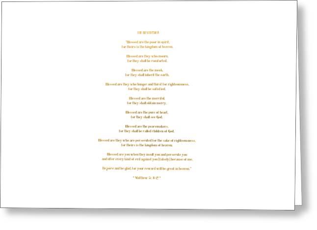 The Beatitudes Gospel Of Matthew Greeting Card by Rose Santuci-Sofranko
