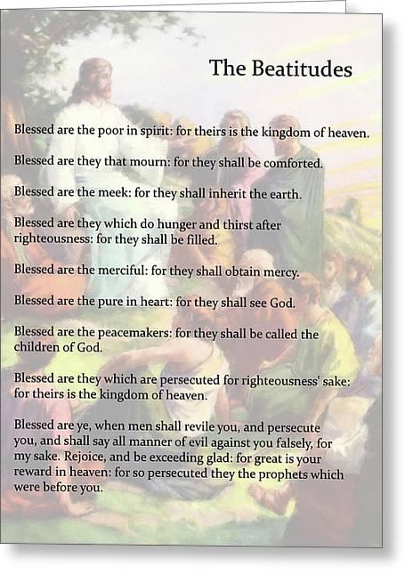 The Beatitudes Greeting Card