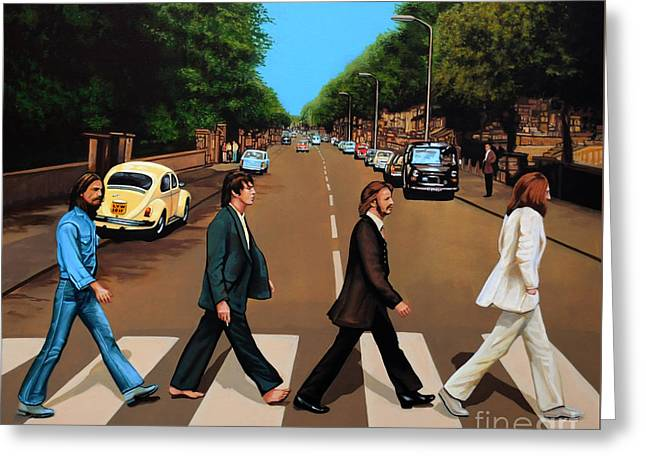The Beatles Abbey Road Greeting Card by Paul Meijering