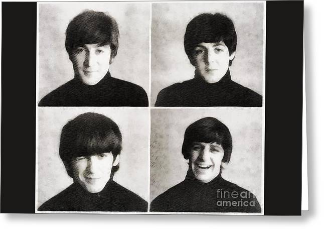 The Beatles By John Springfield Greeting Card by John Springfield