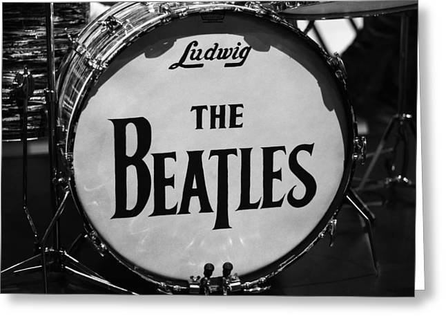 The Beatles Drum Greeting Card