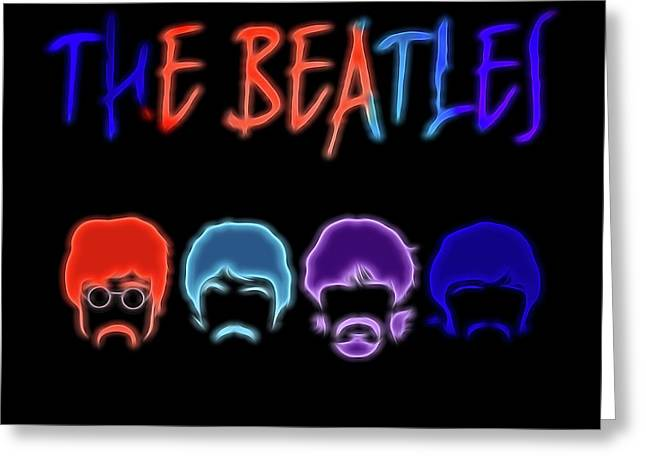 The Beatles Electric Poster Greeting Card