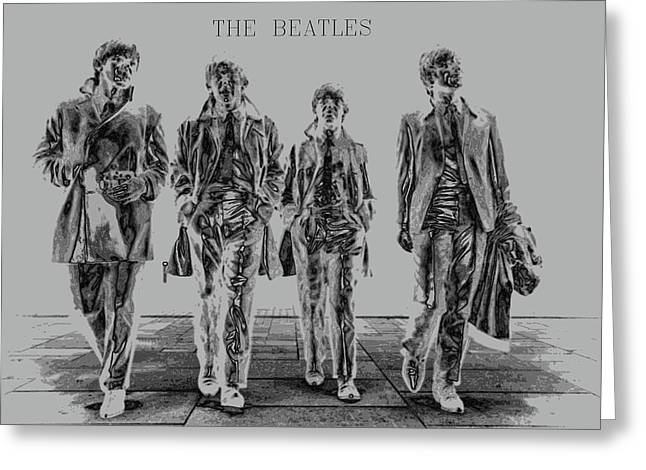 The Beatles Greeting Card by Kevin Elias