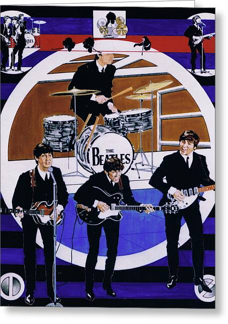 The Beatles - Live On The Ed Sullivan Show Greeting Card