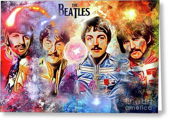 The Beatles Painted Greeting Card