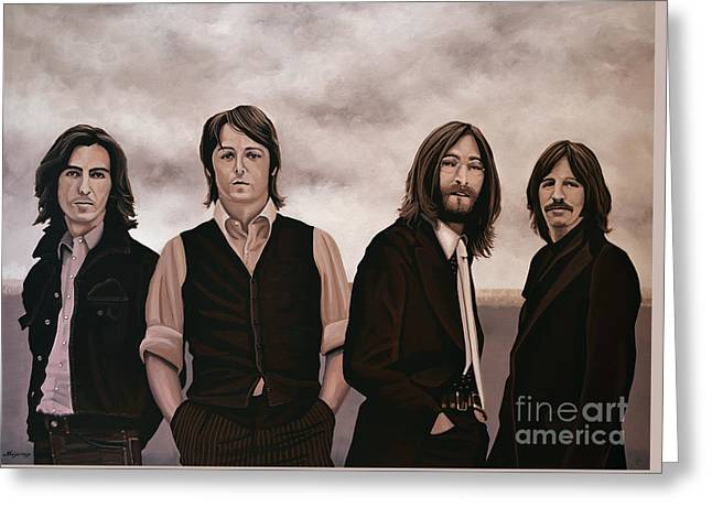 The Beatles 3 Greeting Card by Paul Meijering