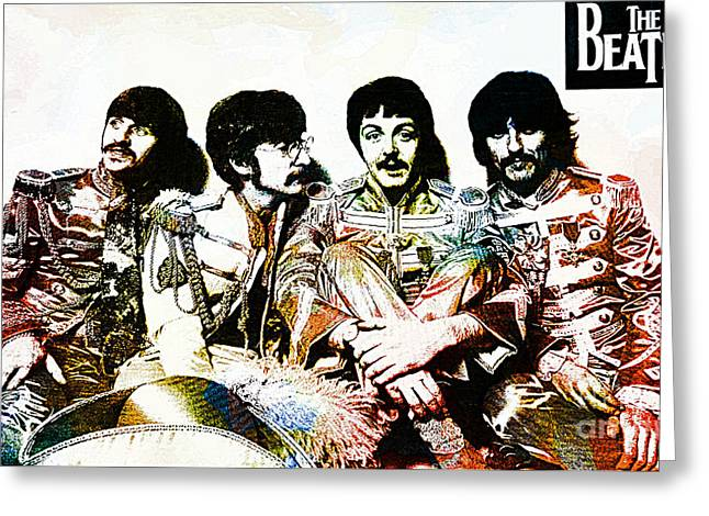 The Beatles--sargent Peppers Lonely Hearts Club Band Greeting Card by Ian Gledhill