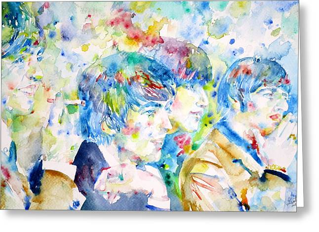 The Beatles - Watercolor Portrait.4 Greeting Card