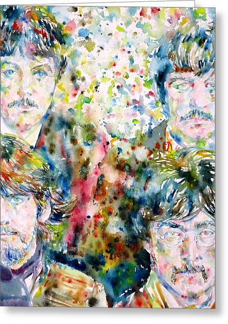 The Beatles - Watercolor Portrait.5 Greeting Card