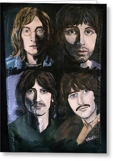 The Beatles White Album Greeting Card
