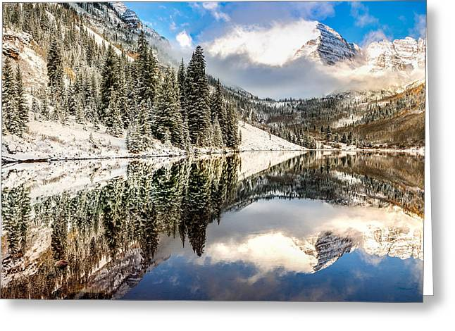 The Beautiful Bells - Aspen Colorado Greeting Card by Gregory Ballos