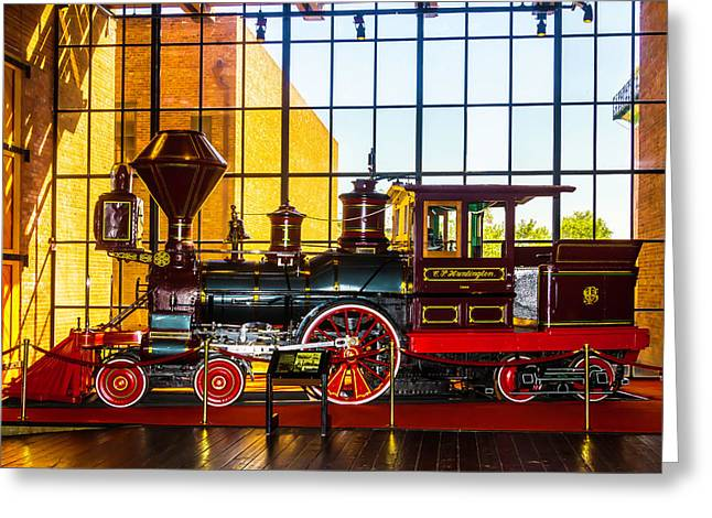 The Beautiful C.p. Huntingtn Train Greeting Card by Garry Gay