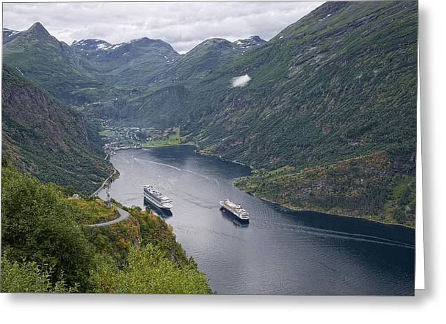 The Beautiful Geirangerfjord Greeting Card
