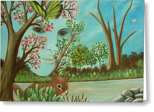 The Beautiful Nature Greeting Card by Iris  Mora