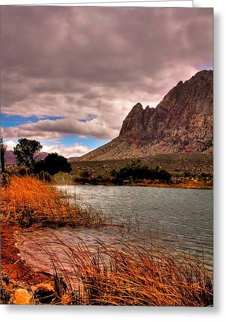 The Beautiful Red Rock Canyon In Nevada Greeting Card