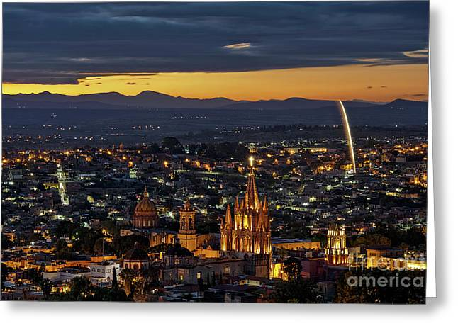 The Beautiful Spanish Colonial City Of San Miguel De Allende, Mexico Greeting Card