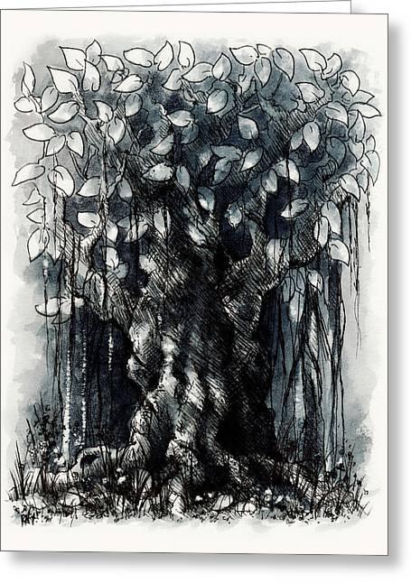 The Beautiful Tree Greeting Card by Rachel Christine Nowicki