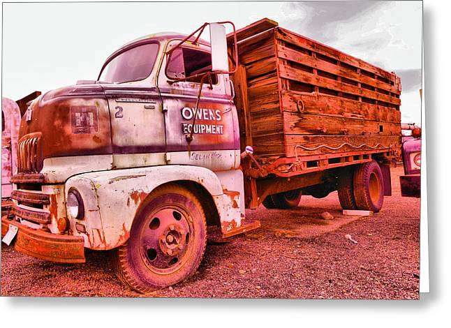 Greeting Card featuring the photograph The Beauty Of An Old Truck by Jeff Swan