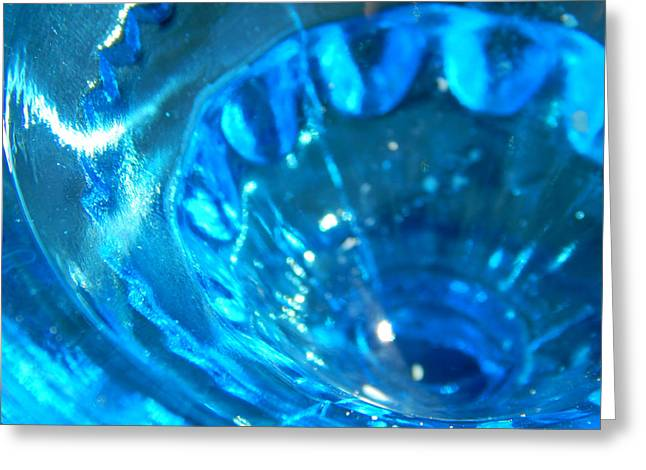 The Beauty Of Blue Glass Greeting Card