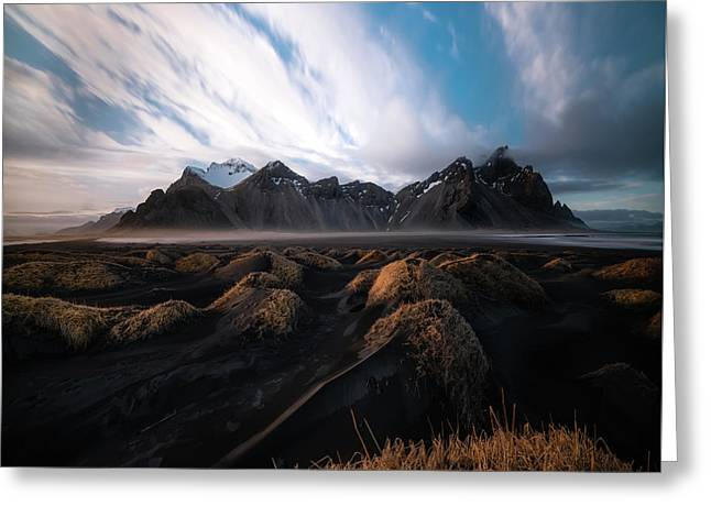 the Beauty of Iceland Greeting Card by Larry Marshall