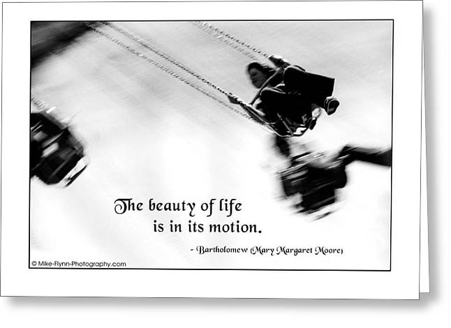 The Beauty Of Life Greeting Card by Mike Flynn