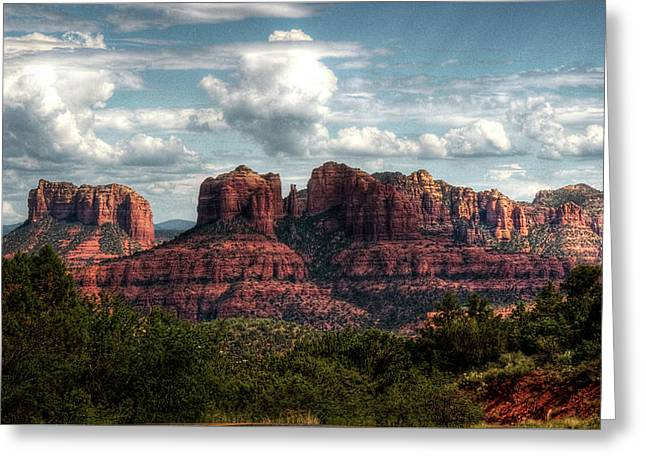 The Beauty Of The Red Rocks  Greeting Card