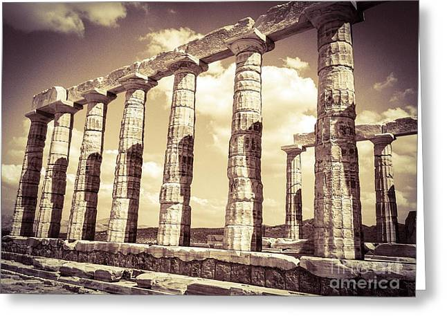 The Beauty Of The Temple Of Poseidon Greeting Card