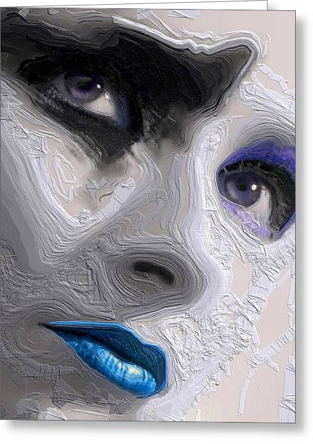 The Beauty Regime Blue Greeting Card by ISAW Gallery