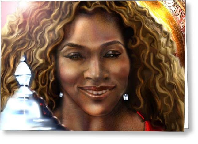 The Beauty Victory That Is Serena Greeting Card by Reggie Duffie